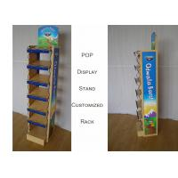POP MDF Branded Display Stands With Metal Frame Graphic Sides Customize Size