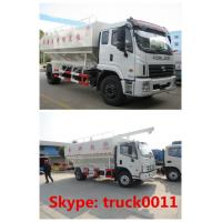 Best Foton 20cbm poultry animal feed truck for sale, forland brand 8-10tons farm-oriented animal feed delivery truck wholesale
