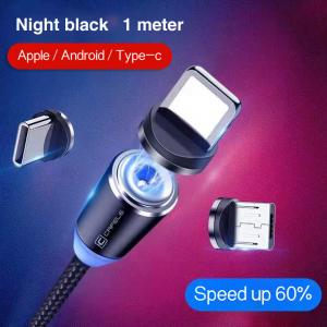 Best 1M Cell Phone 3 In 1 Magnetic Braided Charging Micro Magnetic Usb Cable High Quality 3 in1 Fast Charger Cable Line wholesale