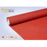 Cheap 960 G/sqm Red Silicone Coated Fiberglass Fabric For Heat And Cold Insulation for sale
