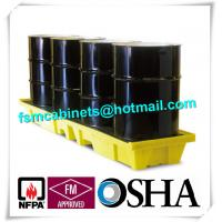 HDPE Chemical Spill Containment Trays Leak Proof For 4 Oil Drum