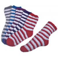Best Stripe pattern ,Aloe Infused SPA Socks polyester plush therapy spa sock wholesale