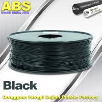Best Black 1.75mm /3.0mm 3D Printer Filament , Ultimaker 3D Printer Consumables ABS Filament wholesale
