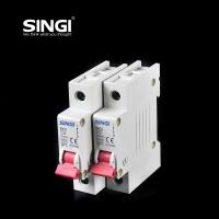 Cheap Breaking capacity reach to 10000 voltage 230v/400V 20a 50HZ single pole small for sale