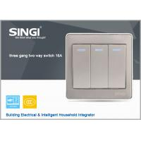 Best GNW56BK Long Lifespan 3 gang 2 way wall switch with led indicator light, 16A switch wholesale