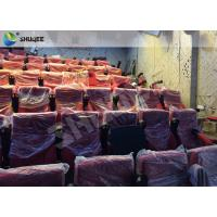 Best High Definition Film Projector 4D Theather With Movement Chair Orange wholesale
