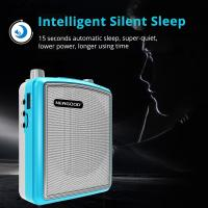 Best Stereo Echo Pa Amplifier UHF Headset Wireless Microphone Loud Speaker Intelligent Smart Wake Up Sleep Auto Connecting wholesale