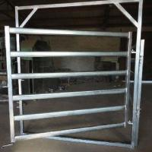 Best Galvanized  Round Oval 40mm 6-bar Rail Livestock Sheep Panels wholesale