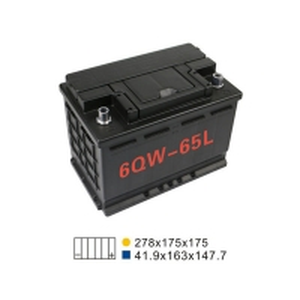 Best 570A 68AH 6 Qw 65L Car Start Stop Battery 274*175*190mm Car Starting Battery wholesale