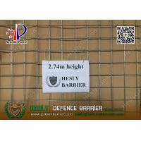 HESLY MIL19 Defensive Barrier | 2.74m high with beige color geotextile cloth