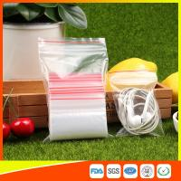 Cheap Polythene Clear Ziplock Bags Self Press Bags Grip Seal Bag With Red Lines for sale