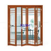 Best Tempered Clear Glass Aluminum Folding Doors Flush Appearance Anti Aging wholesale