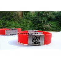 Best Buy from China Emergency ID Bracelet Black, Red silicone ID wristband wholesale