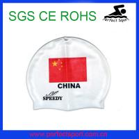 Cheap silicone national swim cap for sale