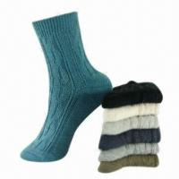 Best Double Cylinder Ladies Socks, Made of combed cotton wholesale