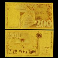 Best 200 Franc Gold Plated Banknotes Pure 24K Gold Banknote For Collection wholesale