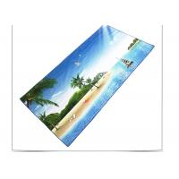 Best Quick Drying Microfiber Beach Towel , Sports Beach Towels With Square Shaped wholesale