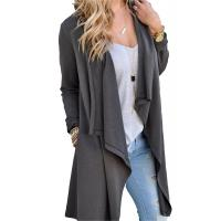 Best Viscose Blends Womens Long Cardigans Solid High Low Long Sleeve Open Front Cardigan wholesale