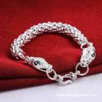 Best Fashion Different Styles Silver Plating Men Design New Snake Bracelets wholesale
