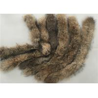 Best Coat Genuine Large Raccoon Fur Collar Warm Soft With Natural Brown Color wholesale