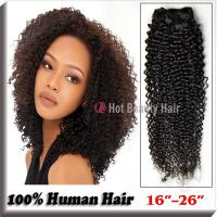 Best Kinky Curly Indian Virgin Hair Extensions Tangle - Free 14 Inch AAAAA Grade wholesale