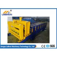 Best Automatic Glazed Tile Roll Forming Machine , PLC Control Roof Tile Manufacturing Machine wholesale