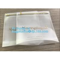 China US Dollars Ziplockk bag with slider, cloth bag boutique packaging slide zip lock plastic bag with slider, Consumer Produc on sale