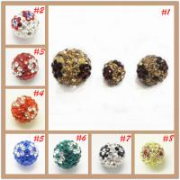 Best Crystal Jewelry Accessories Shamballa Rhinestone Crystal Pave Ball Beads For Decoration wholesale