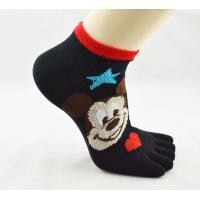 Best Ankle Sox, Durable Breathable Kid's Black Five Toe Socks With Mickey Snowman Patterns wholesale