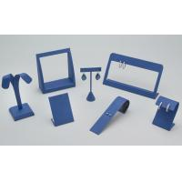 Best Graceful Blue Earring Display Stands Spot UV Printing Handling Jewelry Stand Exhibition wholesale
