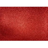 Best Magenta Red Glitter Fabric For Dresses , Cold Resistance Shiny Glitter Fabric wholesale