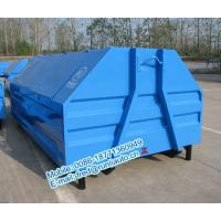 Full sealed 7500 liters low price of metal hook lift bins for sale size and