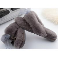 Best indoor moccasin slipper outdoor shearling wool slippers outdoor sheepskin winter slipper wholesale