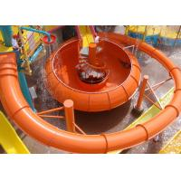 Best High Speed Space Bowl Water Slide Aqua Park Construction Red Yellow wholesale
