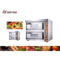 China Industrial Electric Pizza Oven Countertop 2 Layer Ceramic Baseplate 120kg 8.4kw on sale