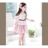 Best Girls lace bowknot falbala gauze cotton girl dresses,kids dress,children dress wholesale