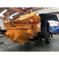 Cheap Powerful 30 m3/hr ~80 m3/hr trailer hydraulic concrete pump with diesel or electric power for sale