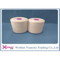 China 1.2DX38MM Fiber Raw White Spun Polyester Yarn / Core Spun Polyester Sewing Thread on sale