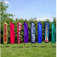 Best Rectangle Full Color Decorative Beach Flags Hot Transfer Printing wholesale