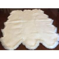 Best Real Sheepskin Rug Extra Large Sheepskin Area Carpet Soft Fur 6P White Six Pelts wholesale