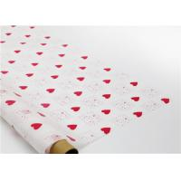 Heart Shapes Custom Printed Wax Paper , Greaseproof Decorative Wax Paper Sheets
