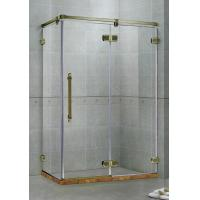 Best Red Frameless Hinged Shower Door / One Fixed Panel Square Shower Enclosure wholesale