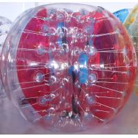 China Red And Clear 0.8mm PVC Human Bumper Ball Inflatable Ball For Kids on sale