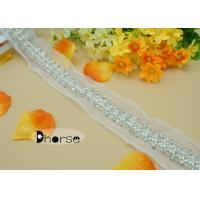 Best Handmade Sew On Rhinestone And Pearl Beaded Trim By The Yard For Wedding Dress wholesale