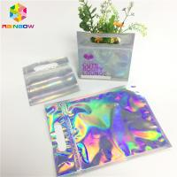 Buy cheap Digital Print Foil Pouch Packaging Clear Front Hologram Zip Lock Bag For from wholesalers