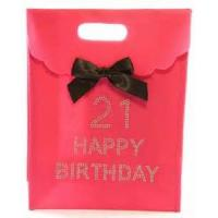 Best 250 Gram White Card Board Custom Printed Gift Bags For Advertising With Ribbon wholesale