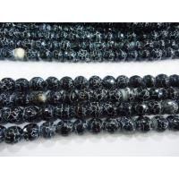 Best Black Round Frost Agate Stone Bead, Semi Precious Gem Beads OEM wholesale