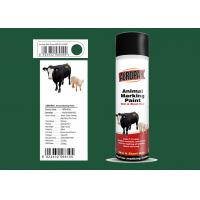 Best Dark Green Color Marking Spray Paint , Animal Marking Paint  With REACH Certificate wholesale