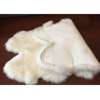Cheap Genuine Bedroom Sheepskin Rugs , 4 Pelt Real Sheepskin Blanket 120x180cm for sale