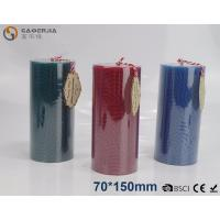 Best Solid - colored Decorative Embossed Pillar Candles With Flat Top wholesale